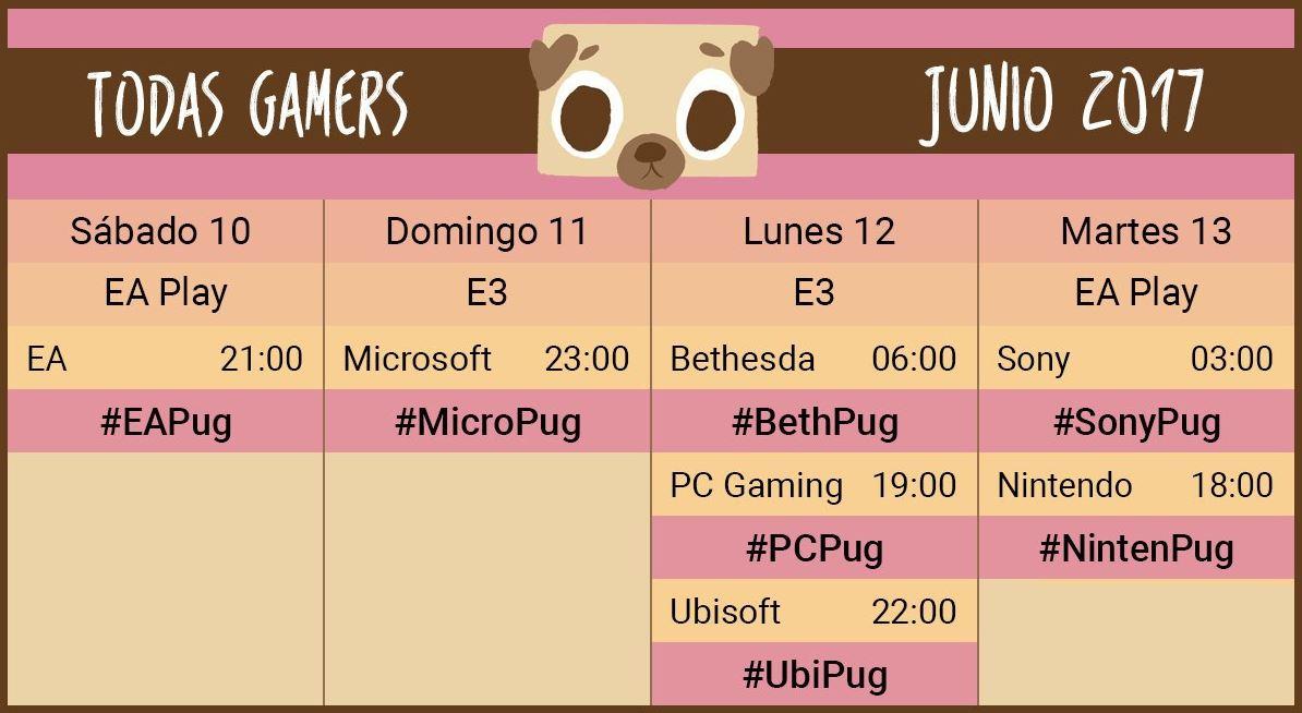 Vive el #E32017 acompañado de Todas Gamers