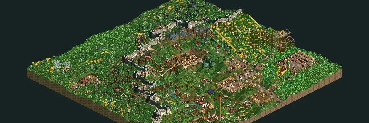Mi parque absurdo de Roller Coaster Tycoon 2