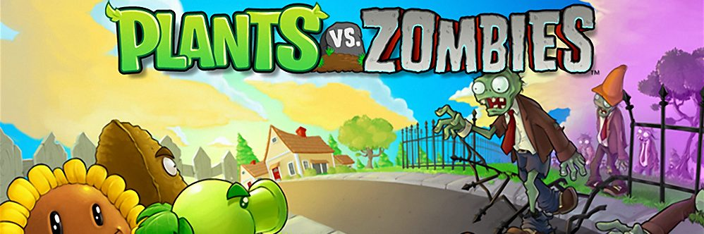 Plants vs Zombies. There's a zombie on your lawn